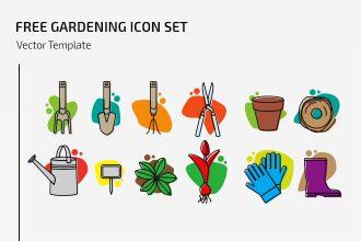 Free Gardening Icon Set