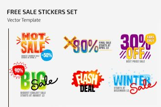Free Vector Sale Stickers Set