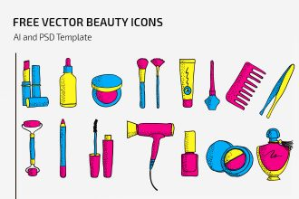 Free Vector Beauty Icons