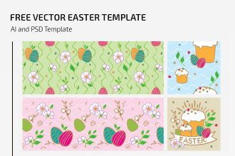 Free Vector Easter Template