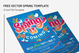 Free Vector Spring Template