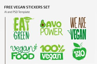 Free Vegan Stickers Set