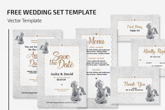 Free Wedding Set Template