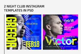 2 Night club Instagram Templates in PSD