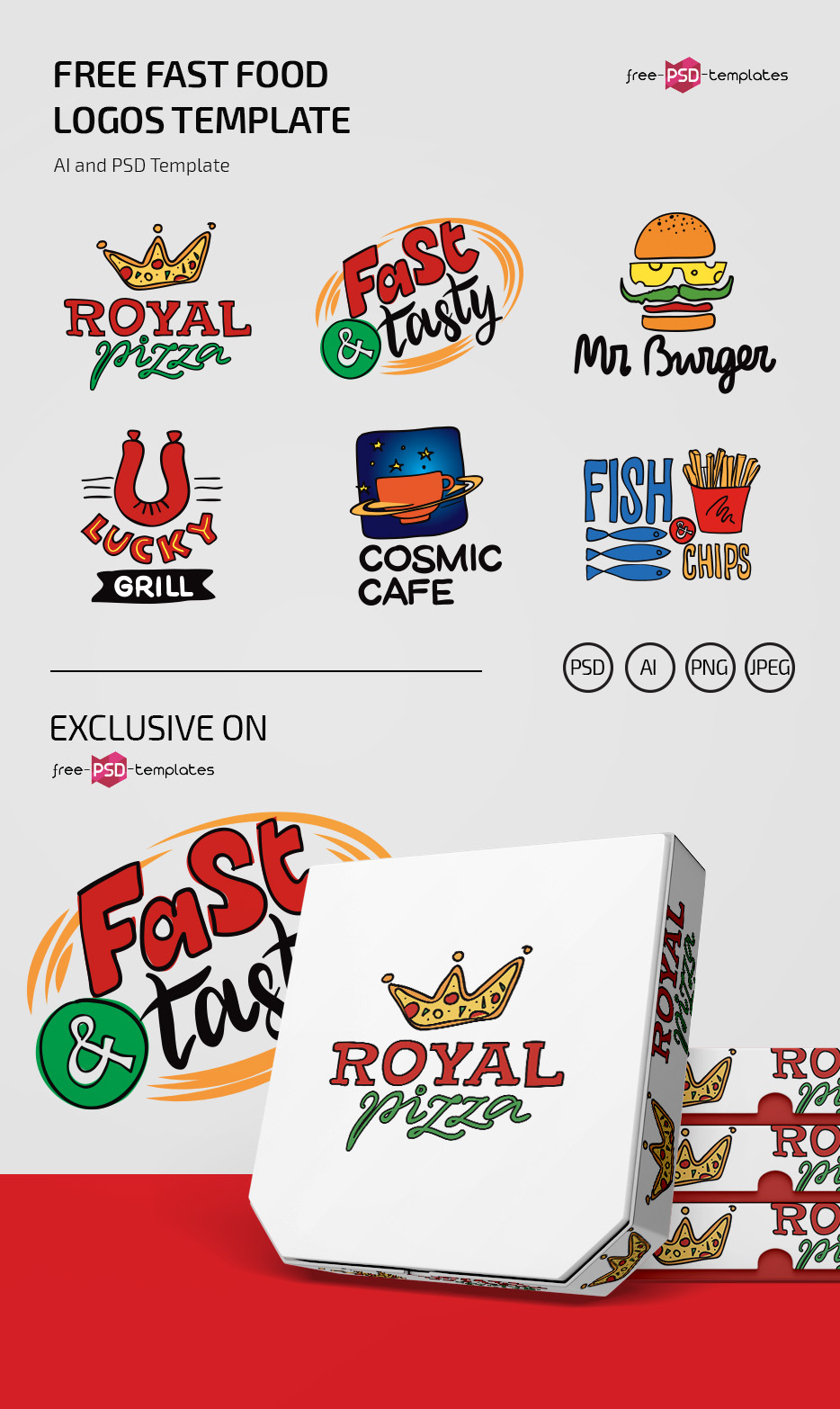 Free Fast Food Logos Template Free Psd Templates