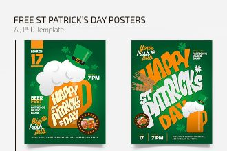 Free St Patrick's Posters Template
