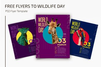Free World Wildlife Day Flyers Templates