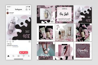 Free Cosmetics Instagram Set Templates