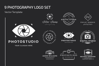 Free Photography Logo Set Template