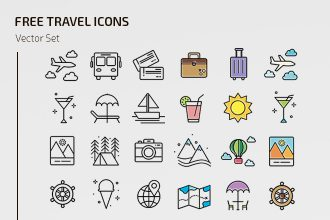 Free Travel Icons Templates