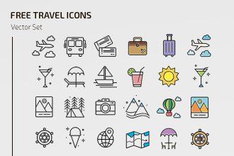 Free Travel Icons Templates