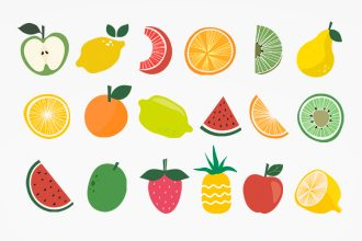 20 Free Fruits Icons Set Template