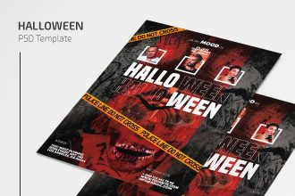 Free Halloween Flyer Template in PSD