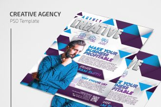 Free Creative Agency Flyer Template in PSD