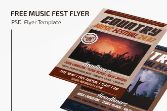 Free Music Festival Flyer Template
