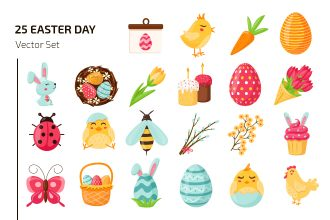 Easter Day Icon Set Template