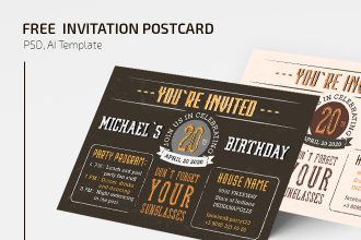 Free Invitation Postcard Templates