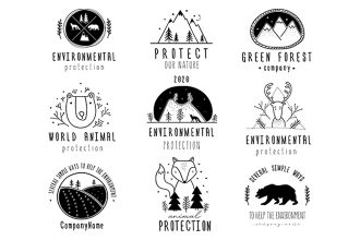 Free Nature`s Protection Logo Template