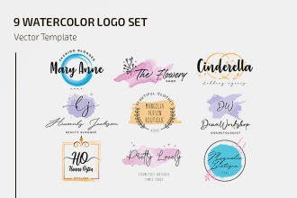 Free Watercolor Logo Templates