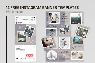 Free Travel Blog Instagram Set Template