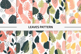 10 Free Leaves Vector Patterns Set