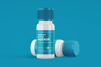 Free Pharmacy Bottle Mockup Set Template