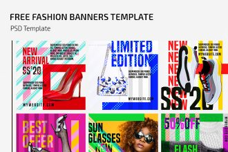 Free Fashion Banners Template