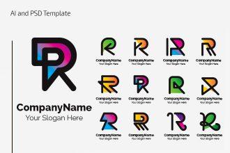 Free Gradient Letter Logo Set
