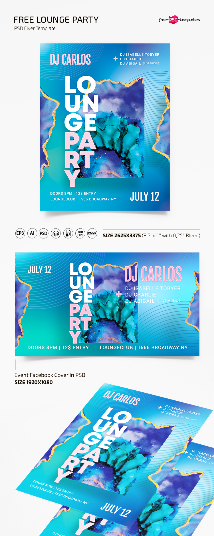 Free Lounge Party Flyer Template In Psd Ai Free Psd Templates