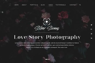 Free Photography Website Template (PSD)