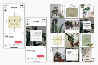 Free Plants Instagram Bundle Templates