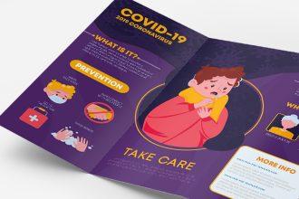 Free Coronavirus Tri-fold Brochure Template in PSD + EPS