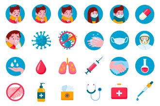 25 Free Coronavirus Icon Set Template in EPS + PSD
