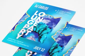 Free Lounge Party Flyer Template in PSD + AI