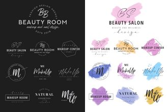 Free MakeUp Logo Templates in PSD + AI