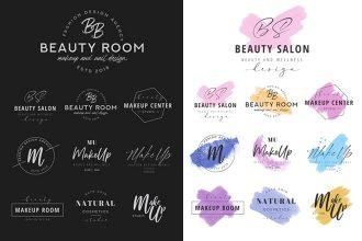 Free MakeUp Logo Templates in PSD + AI