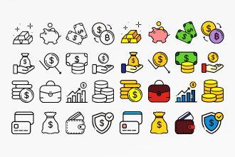 Free Financial Icons Template in PSD +AI
