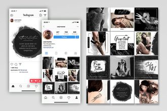 Free Tattoo Instagram Set Template