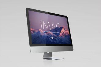 Free Desktop IMac Display Mockup Template in PSD