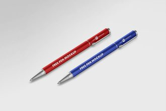 Free Pencil Mockup Template in PSD