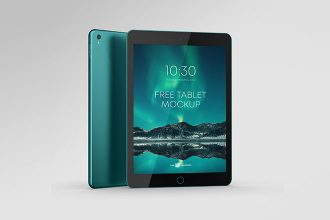 Free Photorealistic Tablet Mock-Up Template in PSD
