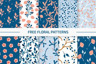 Free Floral Vector Pattern Set in EPS + PSD