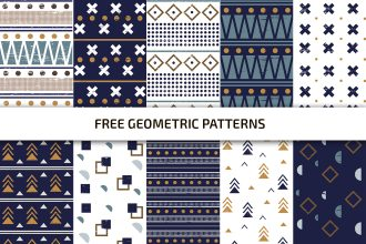 Free Geometric Pattern Vector Set Template in PSD + AI, EPS