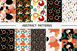 Free Abstract Patterns Set Template