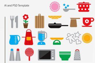Free Kitchen Icons Set