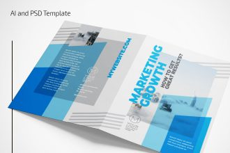 Free Marketing Bi-Fold Brochure Template