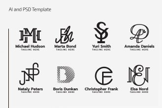 Free Monogram Logo Set