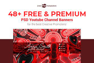 48+ FREE & PREMIUM PSD YOUTUBE CHANNEL BANNERS FOR THE BEST CREATIVE PROMOTERS!