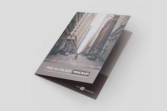 Free A4 Folder Mockup in PSD