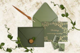 Free Wedding Stationery Mockup in PSD
